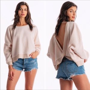 Tops - New plush open back sweatshirt